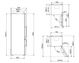 Отдельностоящий холодильник FC450X2PE