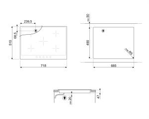 Cтеклокерамическая варочная панель P875AO