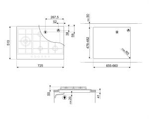 Газовая варочная панель PX175L