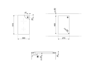 Cтеклокерамическая варочная панель SE332ED