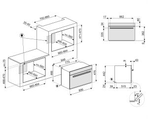 Компактный духовой шкаф SFPR9604NX