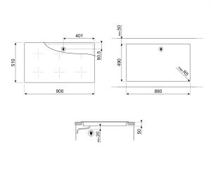 Индукционная варочная панель SIM693WLD