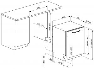 Полностью встраиваемая посудомоечная машина ST3337L