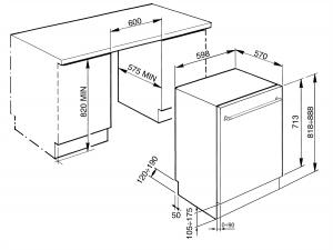 Полностью встраиваемая посудомоечная машина STX13OL
