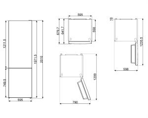 Отдельностоящий холодильник FC202PXNE