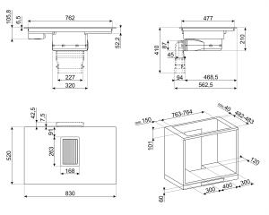 Индукционная варочная панель со встроенной вытяжкой HOBD682R