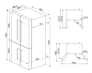 Отдельностоящий холодильник FQ60B2PE1