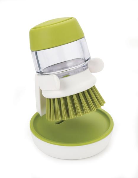 Щётка с дозатором для моющего средства Palm Scrub Joseph Joseph 85004 зелёная