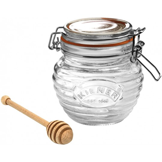 Банка ClipTop с ложкой для мёда 400мл Kilner K_0025.499V