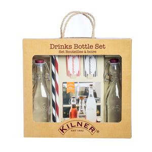 Подарочный набор из 2 бутылок и трубочек Kilner K_0025.776V