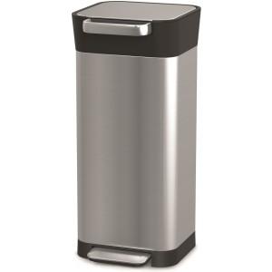 Контейнер для мусора с прессом Titan 20л нержавеюўая сталь 30037