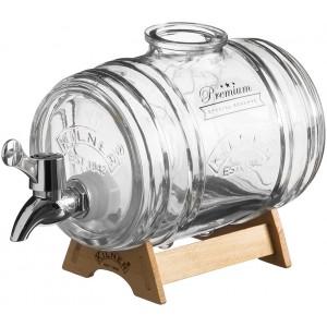 Диспенсер для напитков Barrel на подставке 1л в подар.упак.Kilner K_0025.793V