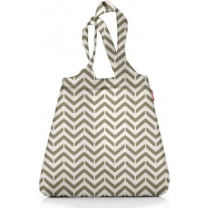 Сумка складная Mini maxi shopper grey hatch Reisenthel AT0024GH