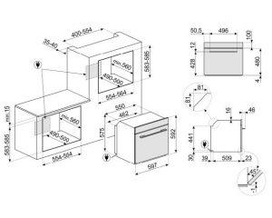 Многофункциональный духовой шкаф SF6100VB1