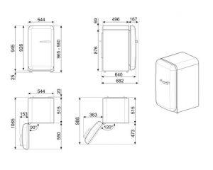 Отдельностоящий однодверный холодильник FAB10LOR2