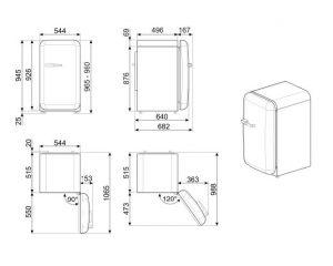 Отдельностоящий однодверный холодильник FAB10RWH2