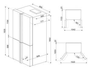 Отдельностоящий холодильник FQ70GBE