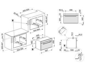 Компактный духовой шкаф SF4104WMCS