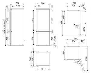 Отдельностоящий холодильник FA490RAN