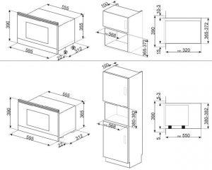 Встраиваемая микроволновая печь MP722PO