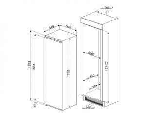 Встраиваемый холодильник S8L1743E